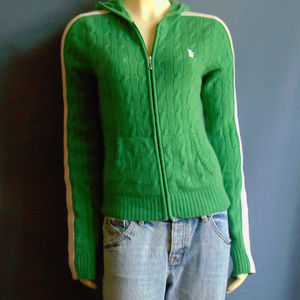 Juicy Couture Green Cashmere Hoodie XL